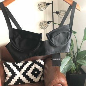 Black Bustier Style Top